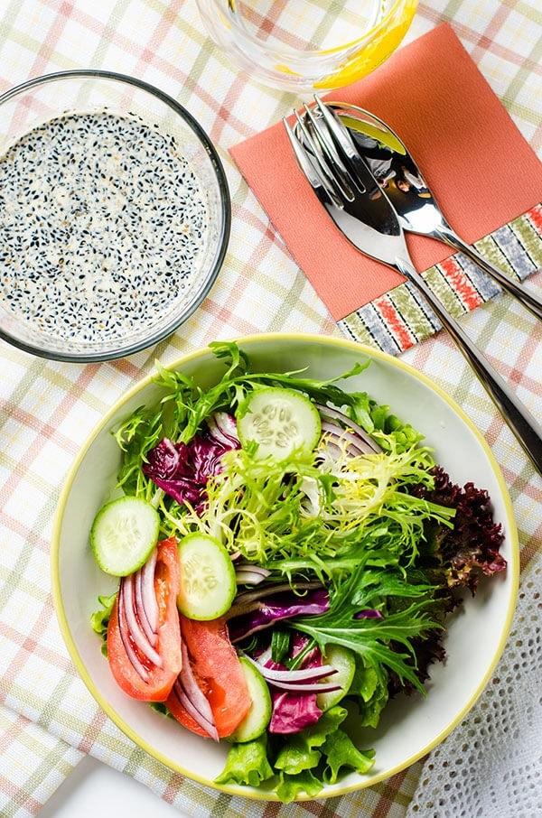 Black Sesame Salad Dressing | omnivorescookbook.com