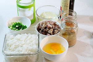 Mongolian Beef Fried Rice Ingredients | omnivorescookbook.com
