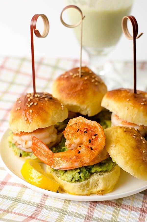 Mini Shrimp Guacamole Sandwich | omnivorescookbook.com
