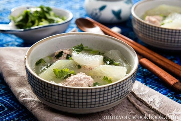 Winter Melon Soup with Meatball (冬瓜丸子汤) | Omnivore's ...