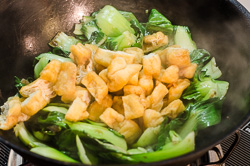 Stir Fried Bok Choy with Crispy Tofu Cooking Process | omnivorescookbook.com
