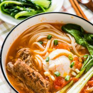Tomato Noodle Soup - The Ultimate Comfort Food | omnivorescookbook.com