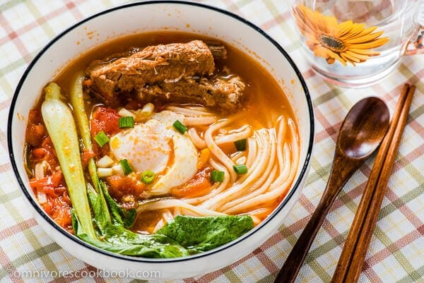 Tomato Noodle Soup - The Ultimate Comfort Food   omnivorescookbook.com