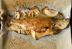 Chinese Spicy Roast Fish (重庆烤鱼) | omnivorescookbook.com