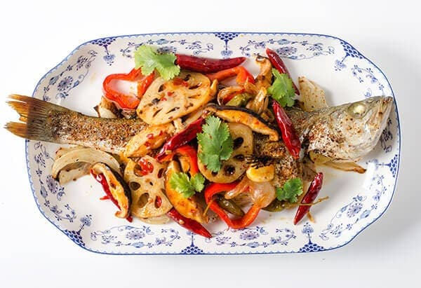 Chinese Spicy Roast Fish (重庆烤鱼) | omnivorescookbook.com