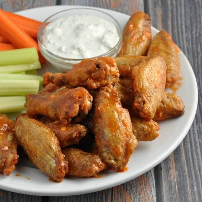15 Chicken Wings Recipes that Will Blow your Mind - Crispy Baked Buffalo Wings with Homemade Buffalo Sauce