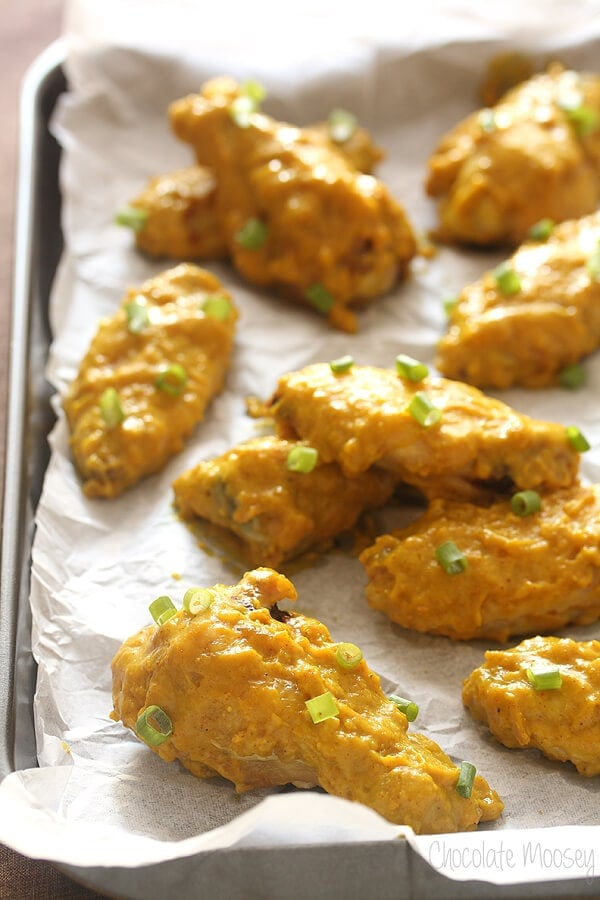 15 Chicken Wings Recipes that Will Blow your Mind - Curry Baked Chicken Wings