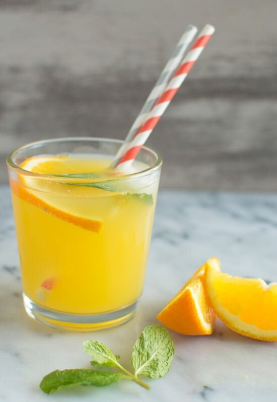 Orange Mint Coconut Water - 6 Healthy Recipes to Kick Off the New Year