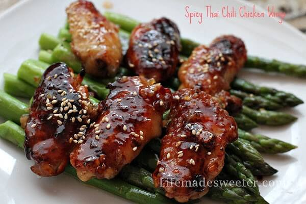 Spicy Thai Chili Chicken Wings