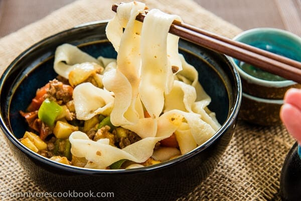 No-Fail Hand Pulled Noodle - Step-by-Step pictures with cooking video to show you how to easily make hand-pulled noodle from scratch | omnivorescookbook.com
