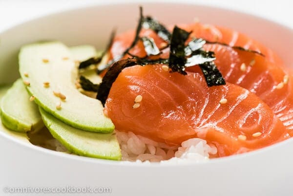 avocado sashimi salmon and avocado sashimi by avocado sashimi with ...