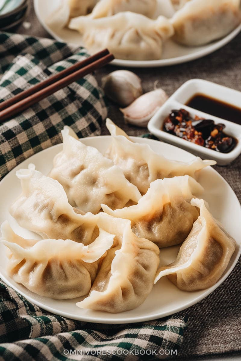 Chinese water boiled dumplings