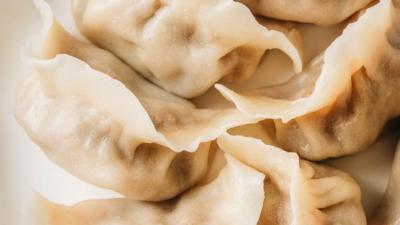 Water boiled Chinese dumplings
