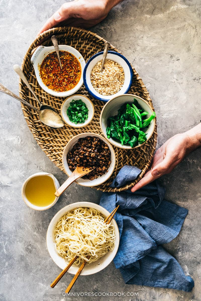 Dan dan Noodles (担担面)   Noodles   Chinese Food   Chinese   Sichuan   Homemade   Peanuts   Spicy   Bowls