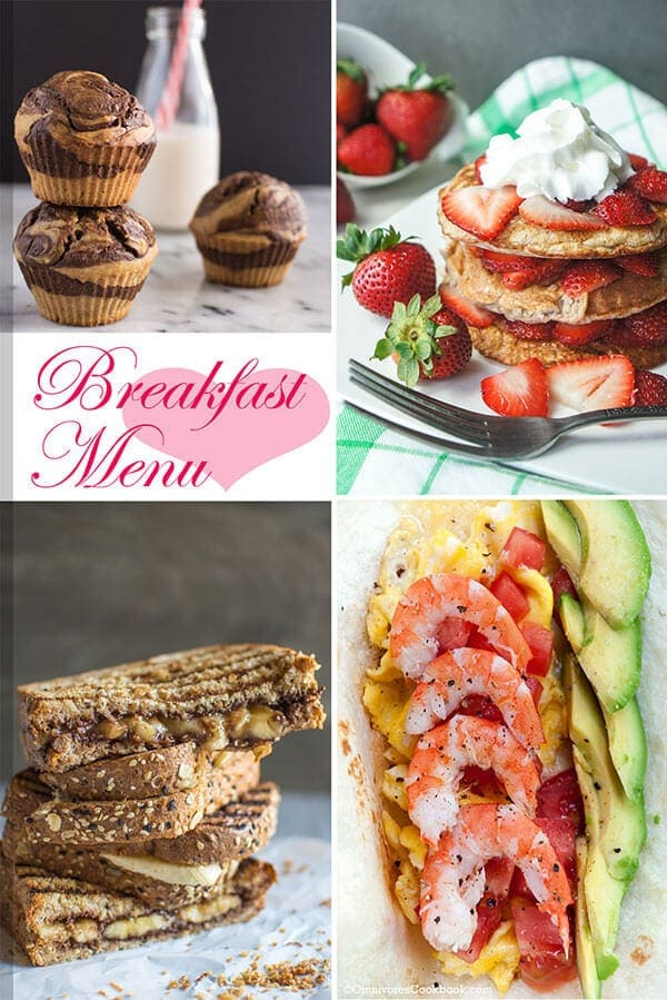 25 Healthy Recipes to Pamper Your Valentine - Breakfast Menu | omnivorescookbook.com