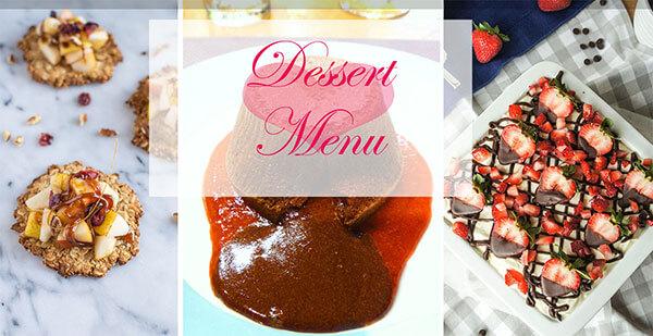 25 Healthy Recipes to Pamper Your Valentine - Dessert Menu | omnivorescookbook.com