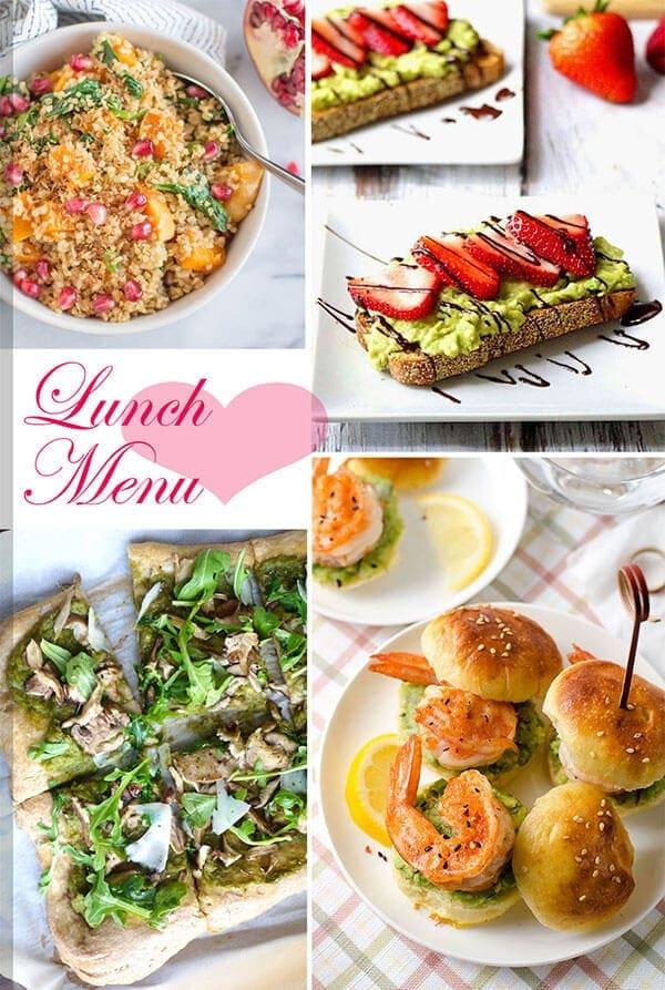 25 Healthy Recipes to Pamper Your Valentine - Lunch Menu | omnivorescookbook.com