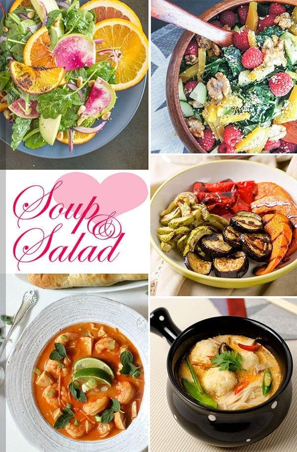 25 Healthy Recipes to Pamper Your Valentine - Soup and Salad Menu | omnivorescookbook.com