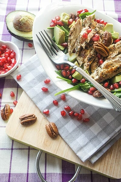 Chicken Salad with Pomegranate, Avocado, and Pecans | Vitamin-Sunshine