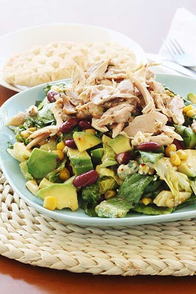 Mango Chicken Salad with Avocado, Kidney Beans & Blue Cheese | Scrummy ...