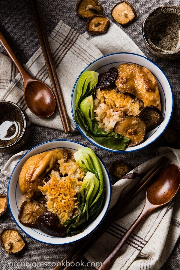 The Best Clay Pot Chicken Rice - the recipe teaches you the easiest way to create a super flavorful one-dish meal without a clay pot or rice cooker | omnivorescookbook.com