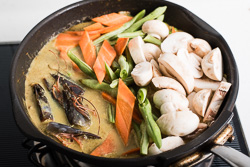 Coconut Fish Curry Cooking Process | omnivorescookbook.com