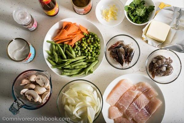 Coconut Fish Curry Ingredients | omnivorescookbook.com