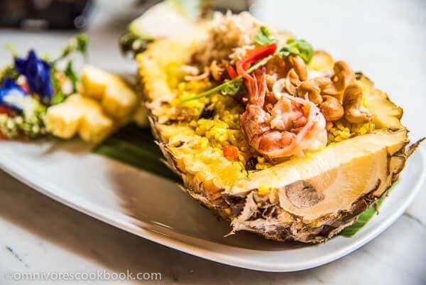 Thailand Trip - Pineapple Rice | omnivorescookbook.com