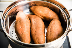 Healthy Mashed Sweet Potato Casserole Cooking Process   omnivorescookbook.com