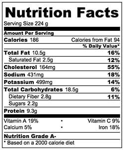 Asparagus Salad with Mushroom, Eggs, and Glass Noodles Nutrition Facts| Omnivorescookbook.com