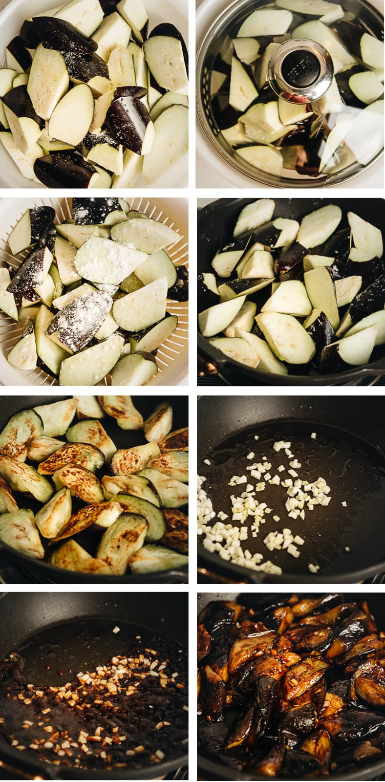 Home made Chinese eggplant cooking step by step