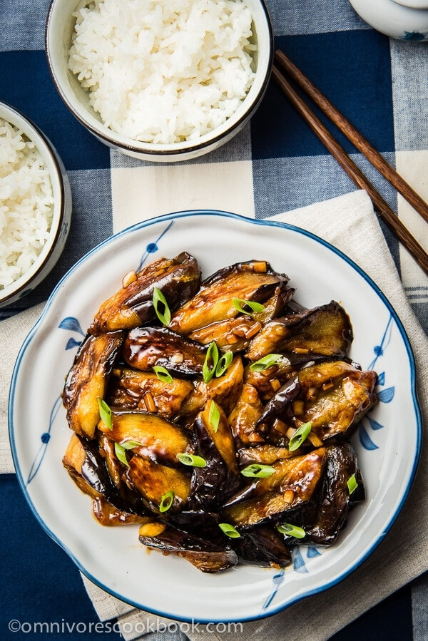 Chinese eggplant with garlic sauce omnivores cookbook chinese eggplant with garlic sauce vegan cook crispy and flavorful eggplant with the forumfinder Images