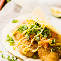 Curried Fish Tacos - simple and super flavorful tacos that only require 30 minutes to prepare and are perfect for a potluck | omnivorescookbook.com