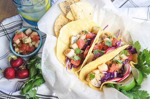 18 Quick and Easy Mexican Recipes - Red Snapper Tacos with Sunrise Salsa