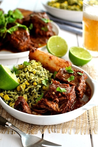 18 Quick and Easy Mexican Recipes - Fiery Fall Apart Mexican Beef Ribs with Green Mexican Rice