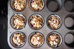 Cranberry Coconut Flour Muffin Cooking Process   omnivorescookbook.com