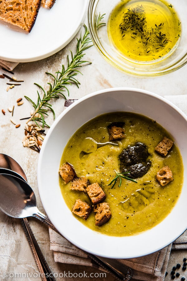 Easy Split Pea Soup - A creamy and comforting soup that requires minimal effort and delivers wonderful flavor   omnivorescookbook.com