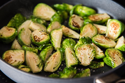 Thai Brussels Sprouts Salad Cooking Process | omnivorescookbook.com