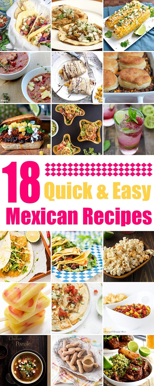18 Quick and Easy Mexican Recipes | omnivorescookbook.com