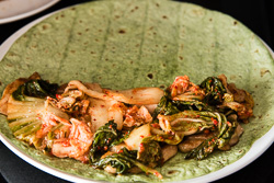 Kimchi Chicken Quesadillas Cooking Process   omnivorescookbook.com