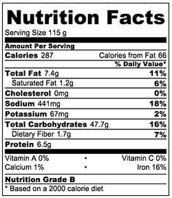 Crispy Bing Bread Nutrition Facts | omnivorescookbook.com