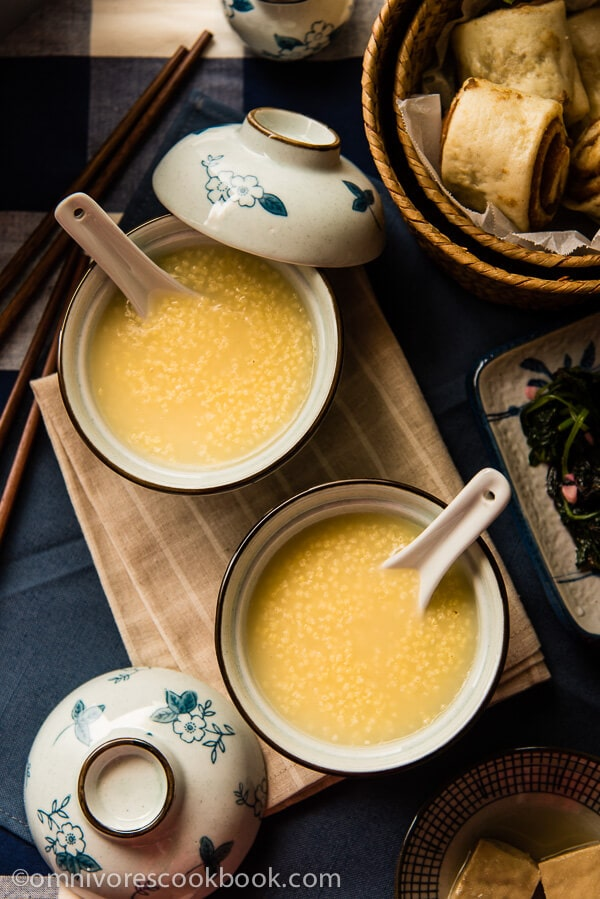 Millet Porridge (小米粥) - an easy, comforting, and versatile side that takes only 30 minutes to make   omnivorescookbook.com