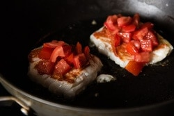 Roast Fish with Tomato Miso Sauce Cooking Process | omnivorescookbook.com