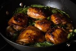 Baked Three Cup Chicken Cooking Process | omnivorescookbook.com