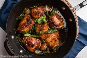 Baked Three Cup Chicken (三杯鸡) - Cook the best chicken with minimal effort | omnivorescookbook.com