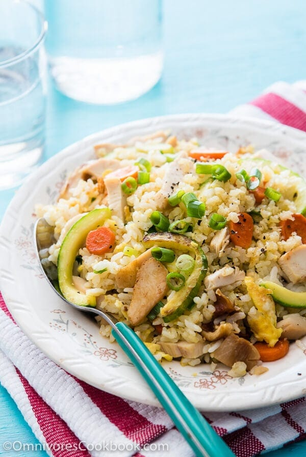 The essential version of Chinese chicken fried rice that you can put together with minimal effort, yet it will bring you the most comforting experience | omnivorescookbook.com
