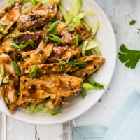Sichuan Chicken with Spicy Sesame Sauce (怪味鸡) - It is served with a numbing, spicy, nutty sauce that is addictively tasty. It may look plain, but it will blow your mind with a single bite. | omnivorescookbook.com