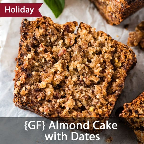 Gluten-Free Almond Cake with Dates - http://omnivorescookbook.com/almond-cake-with-dates