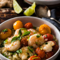 Green Curry Shrimp - A quick fix for a comforting, delicious, and healthy meal. The cooking is simple, foolproof, and forgiving. Learn all the tips for creating your own shrimp curry without a recipe.   omnivorescookbook.com