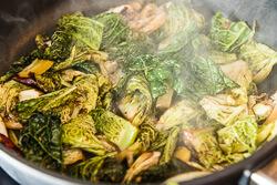Chinese Vinaigrette Cabbage Stir Fry Cooking Process | omnivorescookbook.com